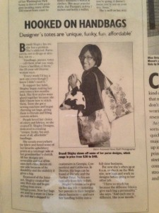 The Rocky Mountain News article that launched Brandi as a successful handbag designer.