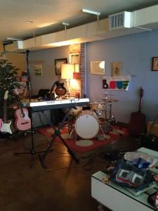 The B.Sue band setup.