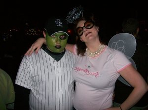 Halloween 2008 - and yes, the two of us are now parents.
