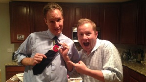 Jeff Bontrager, founder of Neckitecture, showing off one of his signature ties.