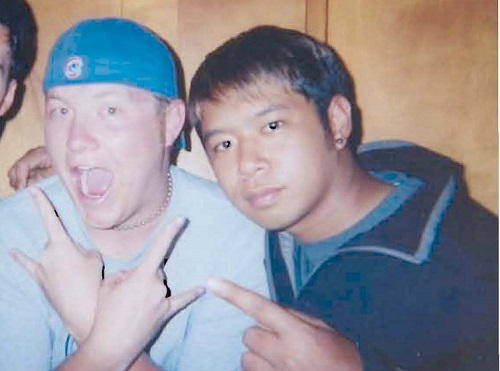 Mike Santos, radio production ninja, is the guest on Ep. 64 of the Jon of All Trades Podcast, which debuts on July 8, 2015. He's pictured here with Jon Eks, while they were both in college.