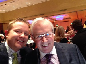 Mike and me at the Damon Runyon Dinner, March 2014. He told me it was his first selfie.