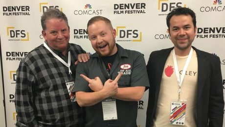 Gregg Barbanell (left), and Lalo Molina and the subject and director of Actors of Sound, a documentary about the art of foley effects, live from the Denver Film Festival. They're the guests on Ep. 115 of the Jon of All Trades Podcast, debuting November 17, 2016.