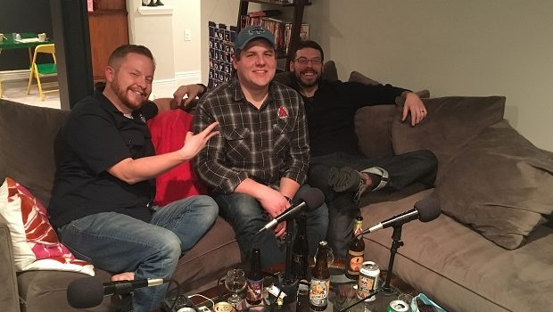 Patrick Combs (middle) is Mad Sensory Scientist for Avery Brewing and a Certified Cicerone, Josh Clauss (right) is also a Certified Cicerone, and they're the guests on Ep 123 of the Jon of All Trades Podcast, debuting February 8, 2017.