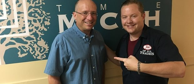 Rabbi Adam Morris is the rabbi at Temple Micah Denver, and he's the guest on Ep. 143 of the Jon of All Trades Podcast, debuting August 23, 2017.