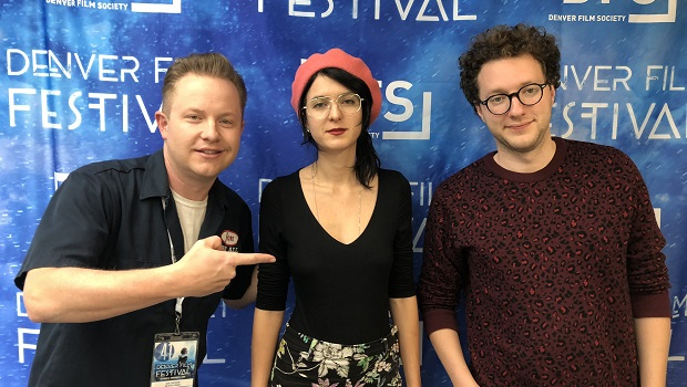 Isa Mazzei (center) and Daniel Goldhaber are the writer and director of Cam, playing at Denver Film Festival 2018. They're the guests on Ep. 197 of the Jon of All Trades Podcast, debuting November 8, 2018.