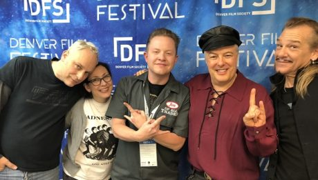 (left to right) Mark Skillicorn, Julia Nash, (me), Jello Biafra, and Groovie Mann are part of Industrial Accident: The Story of Wax Trax! Records, and they're the guests on Ep. 199 of the Jon of All Trades Podcast from Denver Film Festival 2018 #DFF41, debuting November 15, 2018.