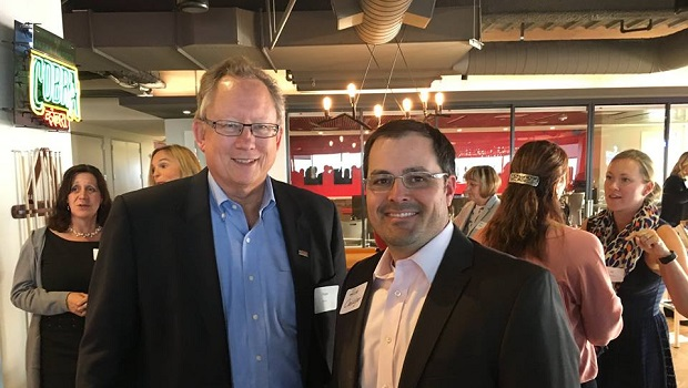 Peter Moore (left), is Chairman & CEO of Vital for Colorado, and he shares his first job with Jon of All Trades on December 21, 2018.
