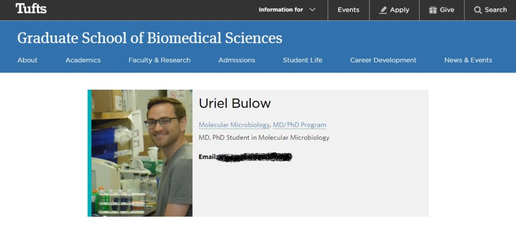 Uri Bulow is a PhD and MD student at Tufts University, and he's the guest on Ep. 243 of the Jon of All Trades Podcast discussing his schooling and the coronavirus. It debuts March 23, 2020.